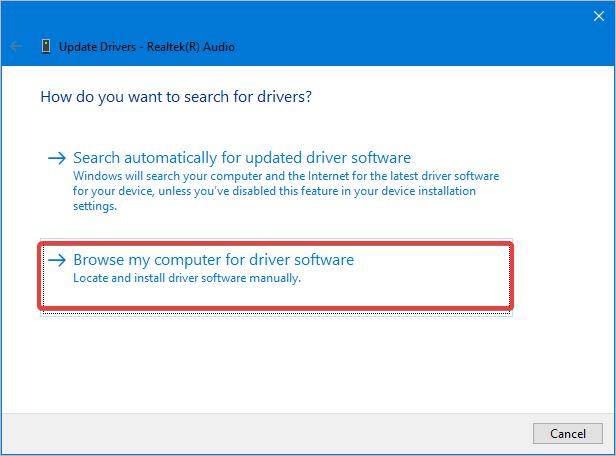 browse driver software