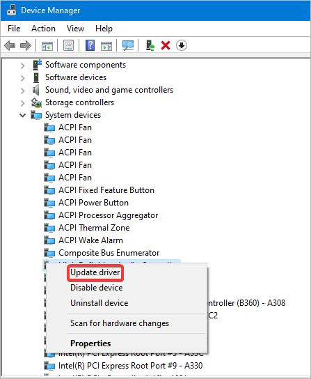 update audio sst driver