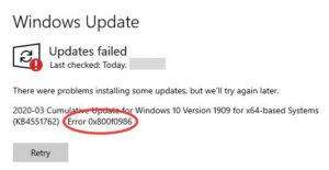 windows 10 update error 0x800f0986