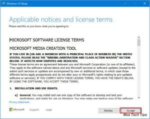 accept the license terms