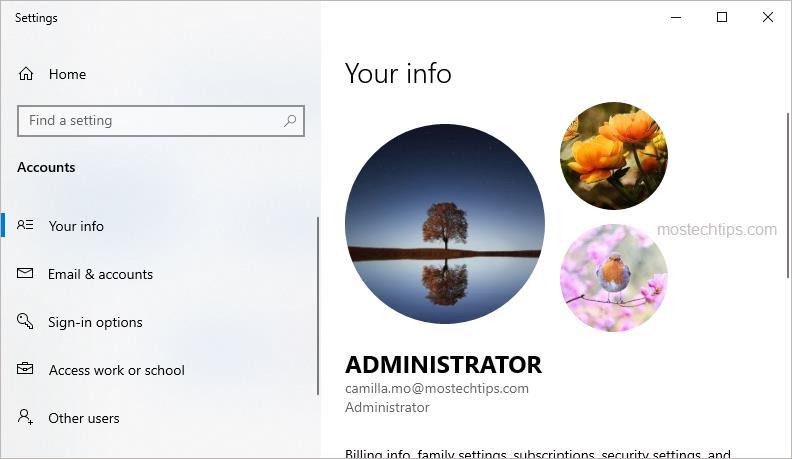 account window 2
