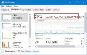 cpu in task manager