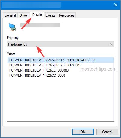 graphics card hardware ids