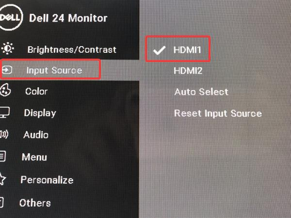 select input source