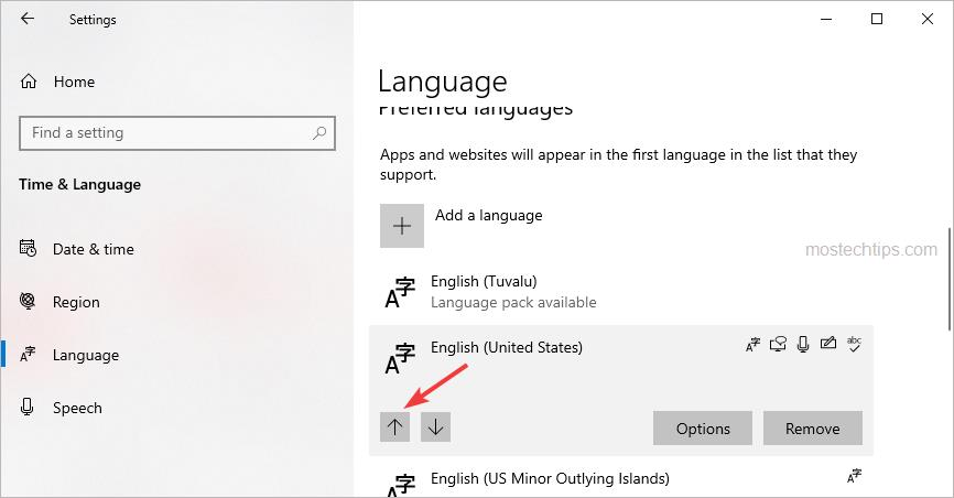 make your language the first language