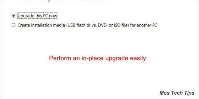 perform an inplace upgrade easily 3