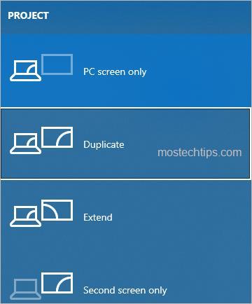 select display mode