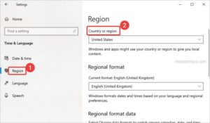 select your region