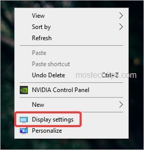 select display settings