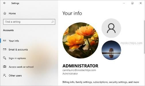 change account picture in windows 10