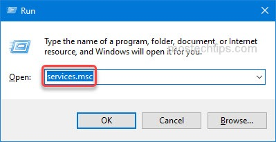 open the services window