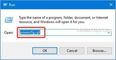 open the power options window