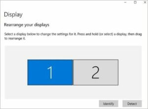 set different resolutions for dual monitors