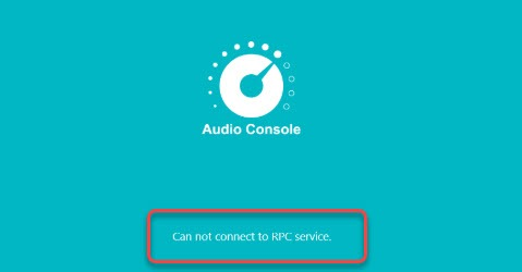 cannot connect to RPC service