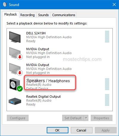 set speakers as default device