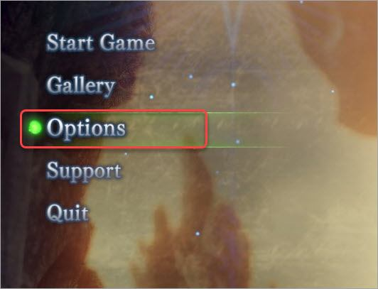 access monster hunter world options