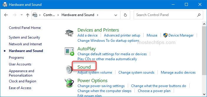 click on sound