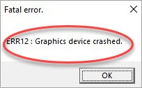 err12 graphics device crashes