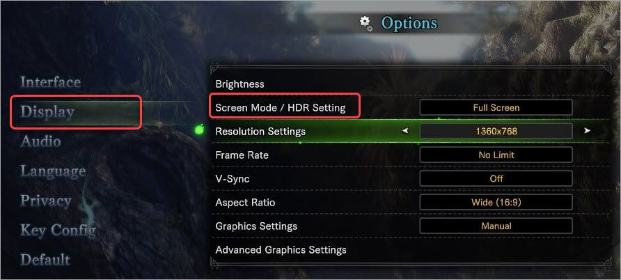 set HDR as disabled