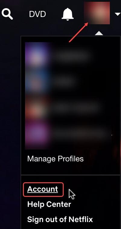 open netflix account settings