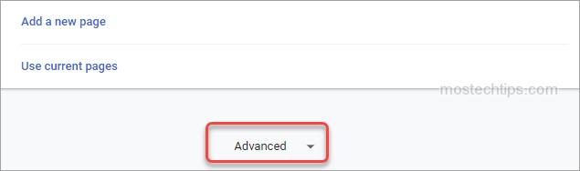 select advanced