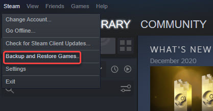 backup and restore games