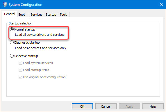 enable load all device drivers and services