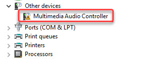 multimedia audio controller