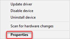 select driver properties