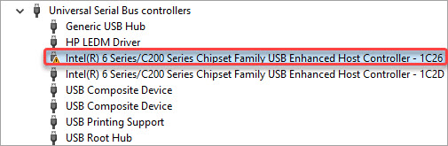 intel 6 series c200 chipset usb drivers