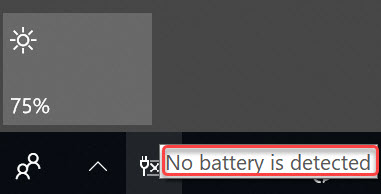asus no battery is detected