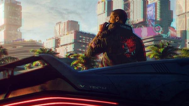the screenshot shows the cyberpunk 2077 game