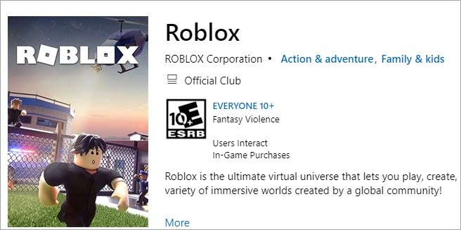 download roblox from microsoft store