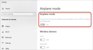 fix windows 10 airplane not turning off issue