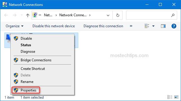 open network properties