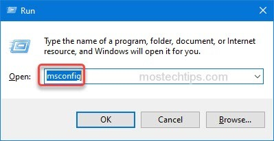open system configuration window