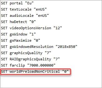 edit the configuration file