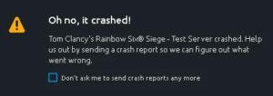rainbow six siege crash on startup