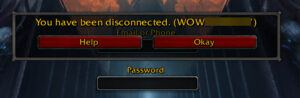 you have been disconnected wow
