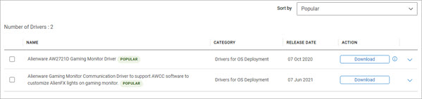 download the latest alienware monitor driver