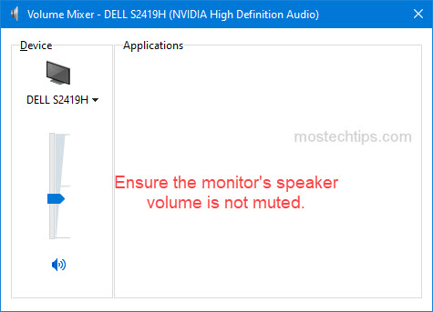 ensure your asus monitor is not muted