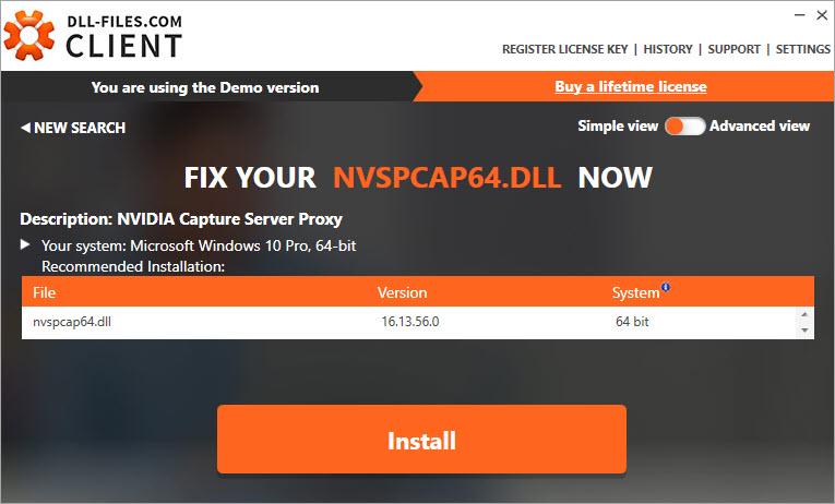 install nvspcap64.dll file