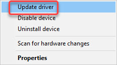 update xbox acc driver in device manager