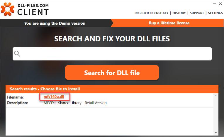 download the mfc14u.dll file