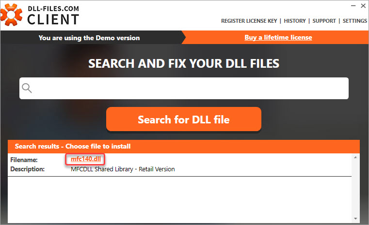 download the mfc140.dll file