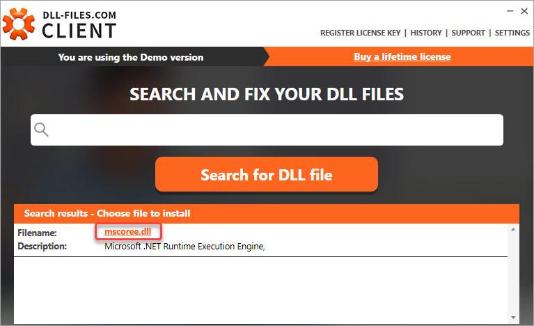 download the mscoree.dll file