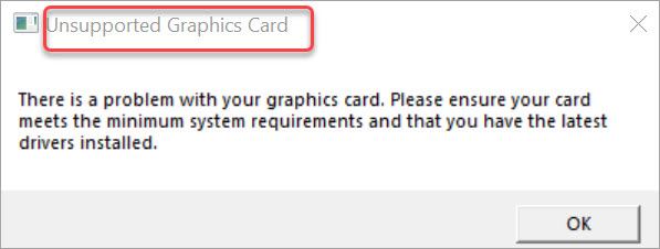 fix epic games launcher unsupported graphics card error