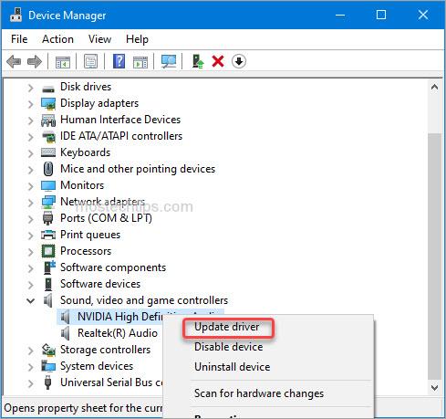 update hd audio device driver