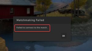 fix coso failed to connect to the match